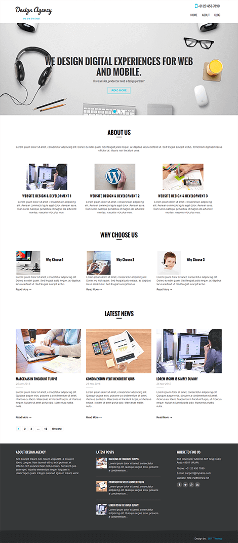 free agency WordPress theme