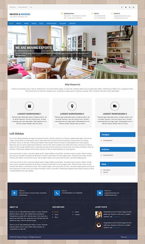 Free logistics wordpress theme for logistics transportation business free logistics wordpress theme friedricerecipe Choice Image