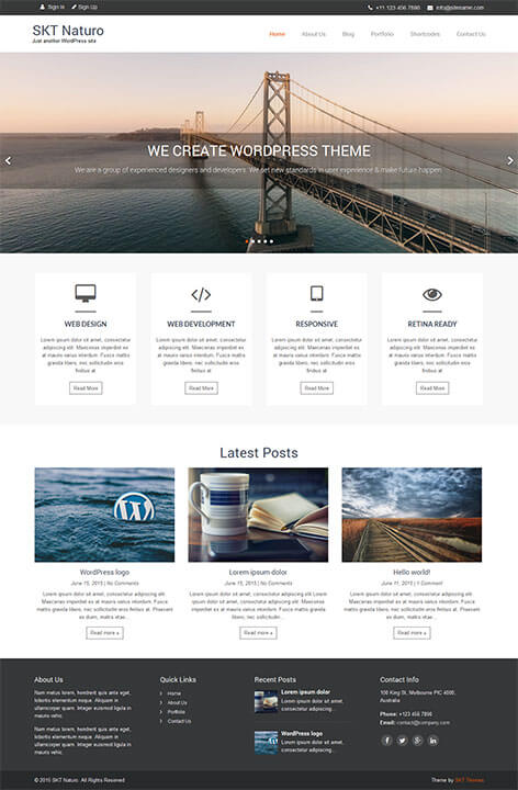 free minimal WordPress theme