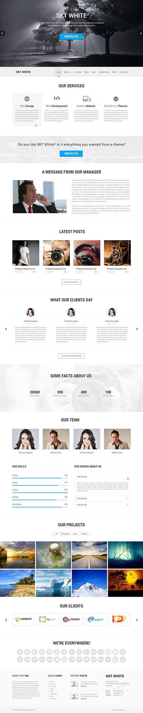 free white WordPress theme