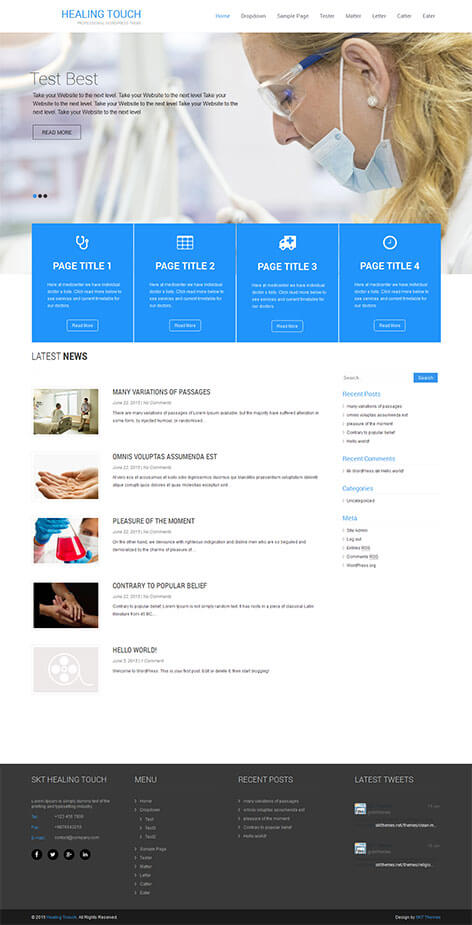 free medical WordPress theme