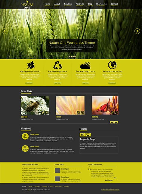 free nature WordPress theme