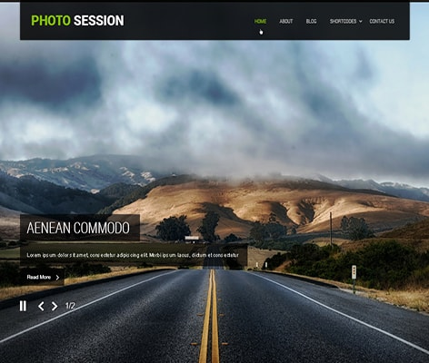 free photographer WordPress theme