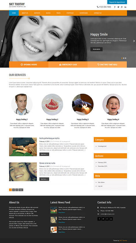 free dentist WordPress themes