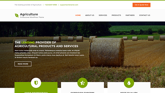 agriculture - Professional WordPress Theme