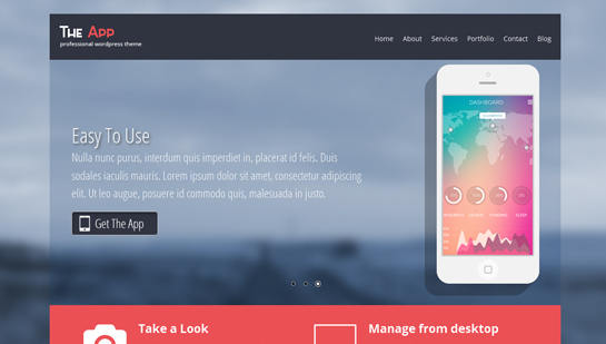 free app WordPress theme