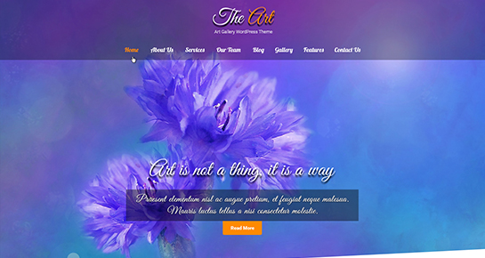 The Art - WordPress theme