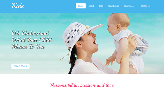Kids - baby-sitter WordPress Themes