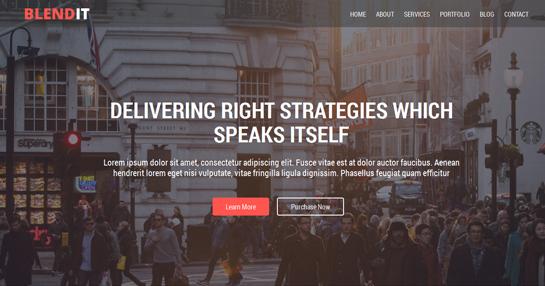 blendit - free one page WordPress theme