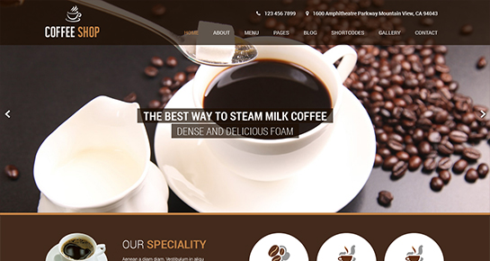 free coffee WordPress theme