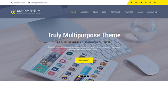 free multipurpose WordPress theme
