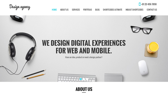 free design agency WordPress theme