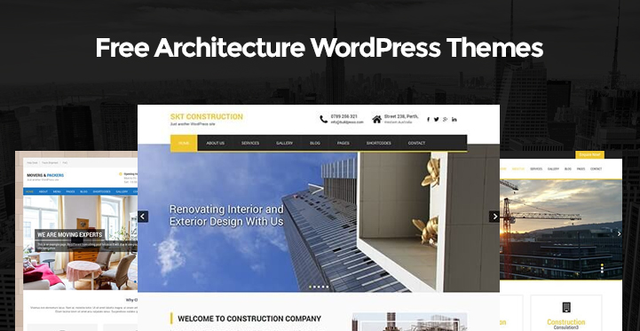 Free architecture wordpress themes for architects and for Architecture wordpress
