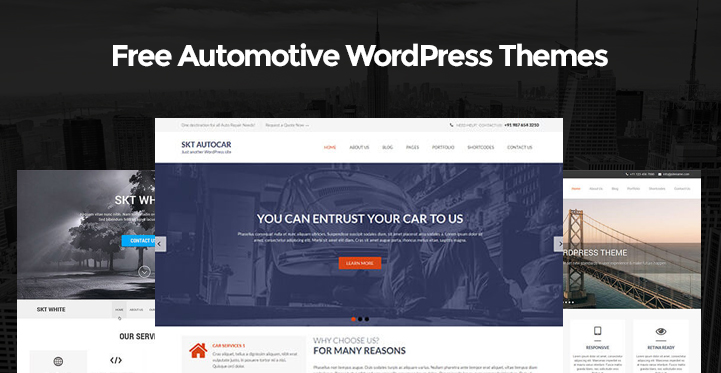 Free Automotive WordPress Themes for automobile and car repair ...