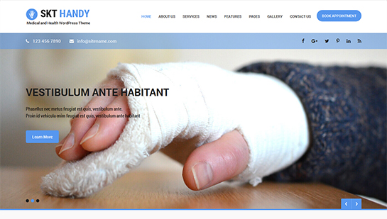 free doctor WordPress theme