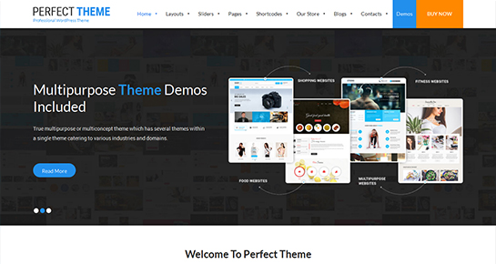 free landing page WordPress theme