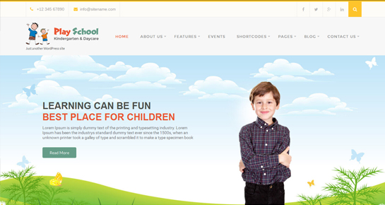 Free kids WordPress themes for kids related websites - Themes21