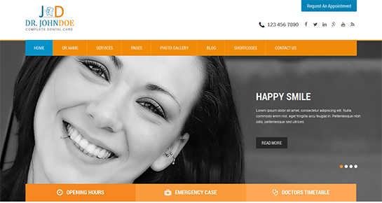 free dentist WordPress theme