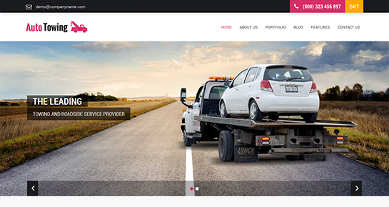 free towing WordPress theme