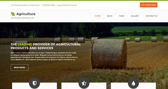 free farming WordPress theme