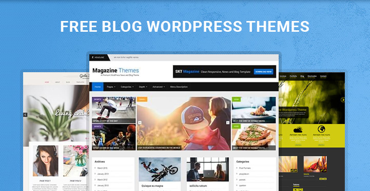 Free blog wordpress themes for blog related websites for Free blog templates wordpress