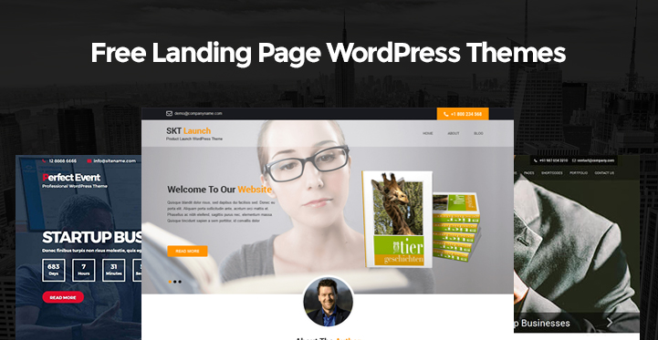 Free Landing Page WordPress Themes for landing page websites - Themes21