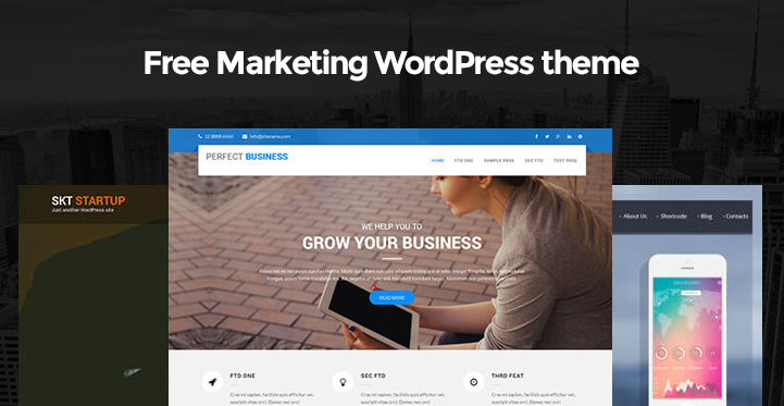 Free Marketing WordPress themes for marketing promotion websites ...