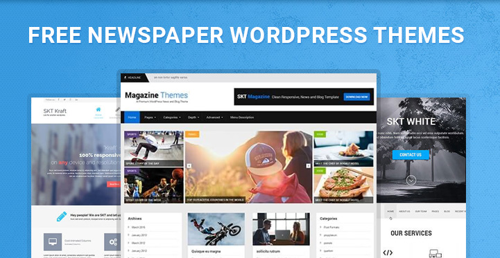Free Newspaper Wordpress Themes For News Magazine And Blog Websites