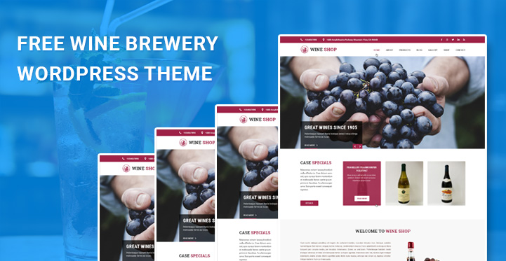 free wine brewery WordPress themes