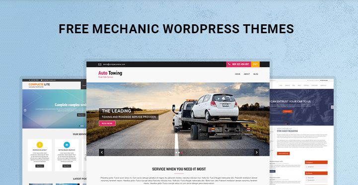 free-mechanic-WordPress-themes-banner