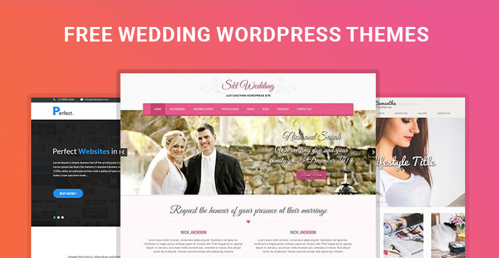 Free Wedding Wordpress Themes For Engagement Matrimonial Websites