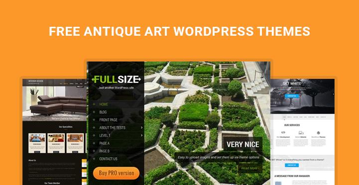 free antique art WordPress themes