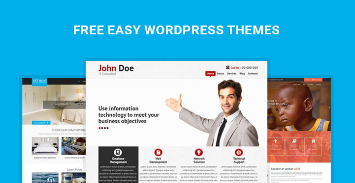 free easy wordpress themes for easy set up and easy to use websites