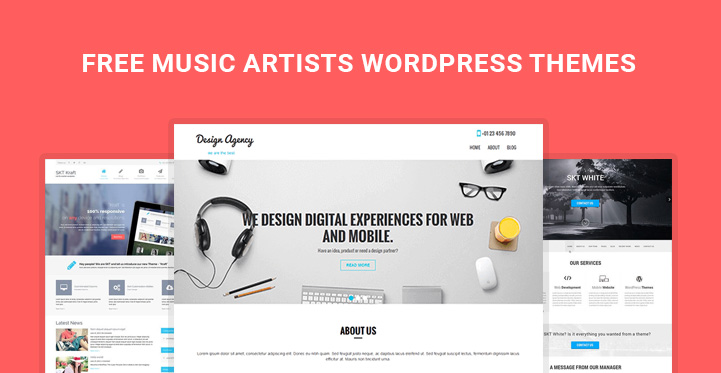 Free Music Artists WordPress themes for artists websites - Themes21