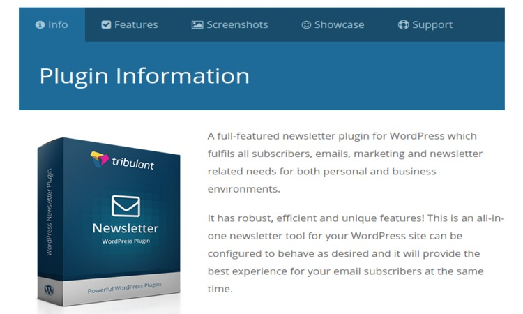 Tribulant WordPress newsletter