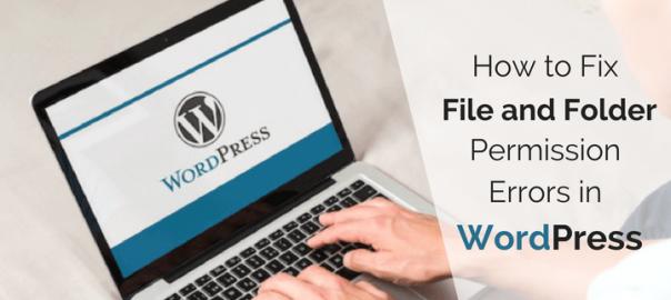 WordPress Need File And Folder Permissions