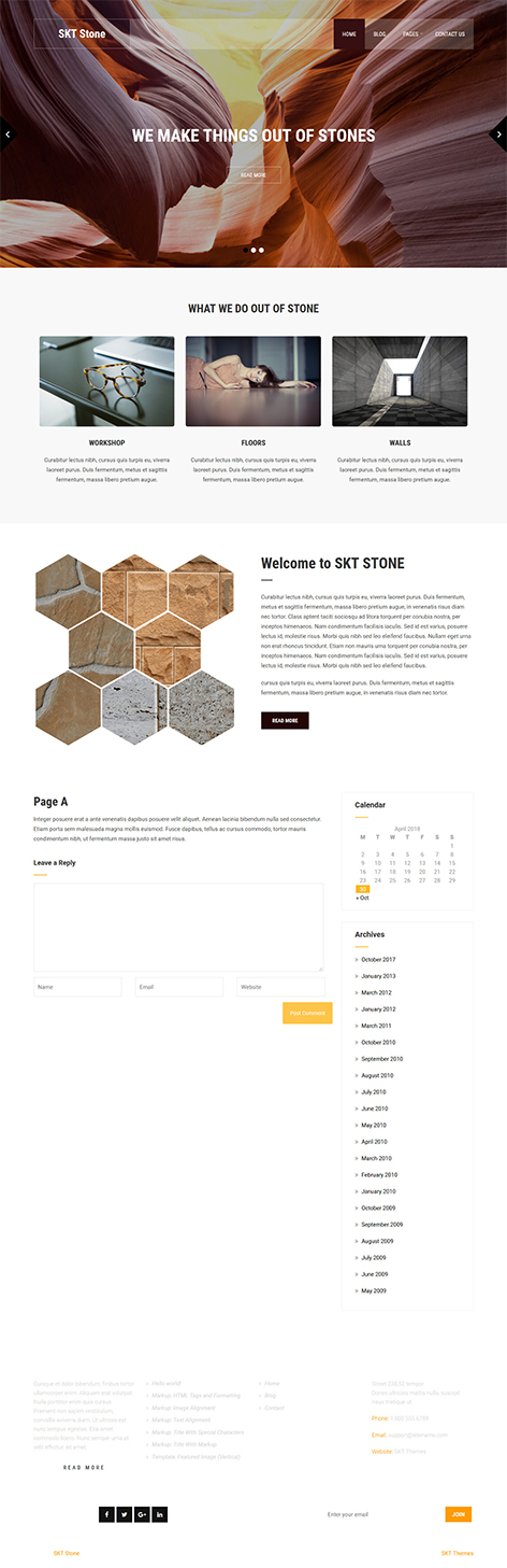 free stone granite WordPress theme