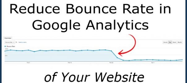 Reduce bounce rate in Google Analytics
