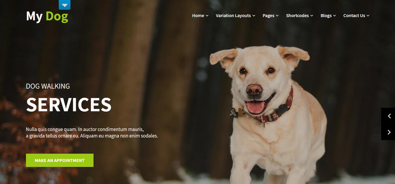 free dog wordpress theme