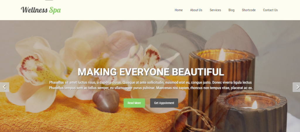free spa salon WordPress theme