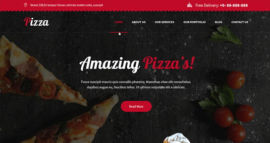 Pizza Ordering WordPress theme