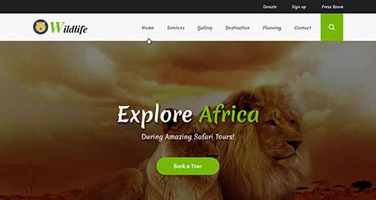 Wildlife WordPress themes