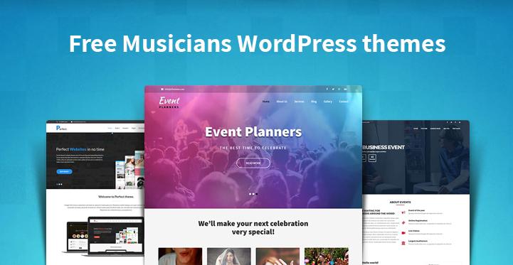 Free Musicians WordPress themes