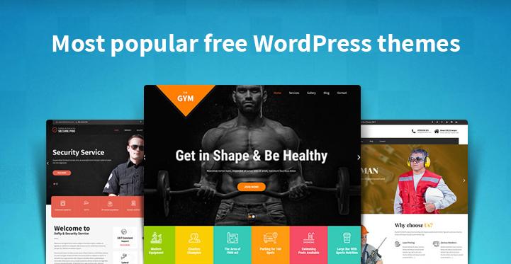 Most popular free WordPress themes