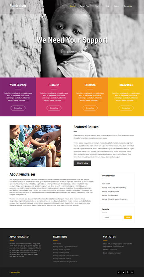 free nonprofit WordPress theme