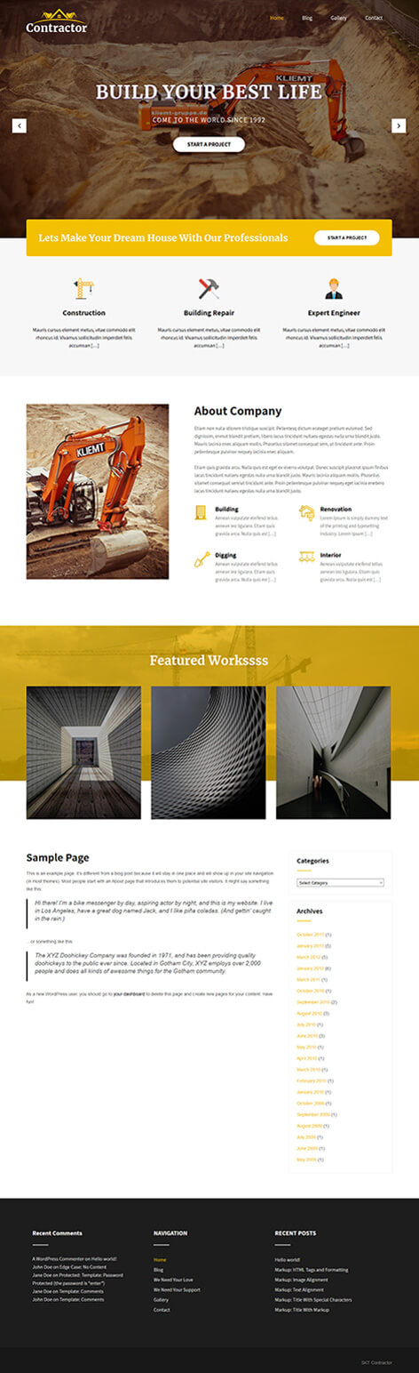 Free Builder WordPress Theme