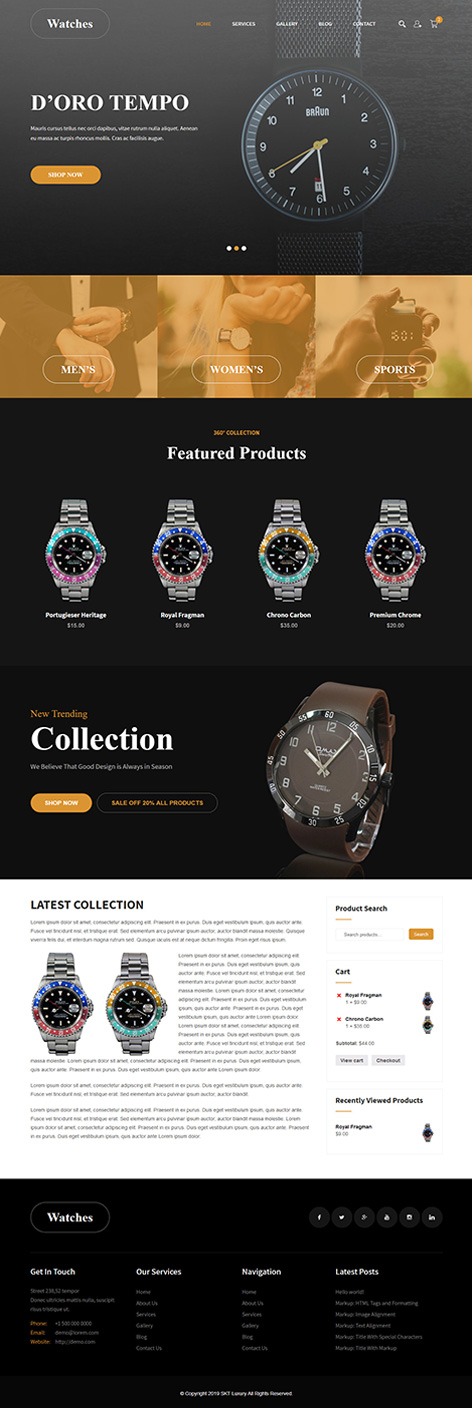 Free Luxury eCommerce WordPress Theme