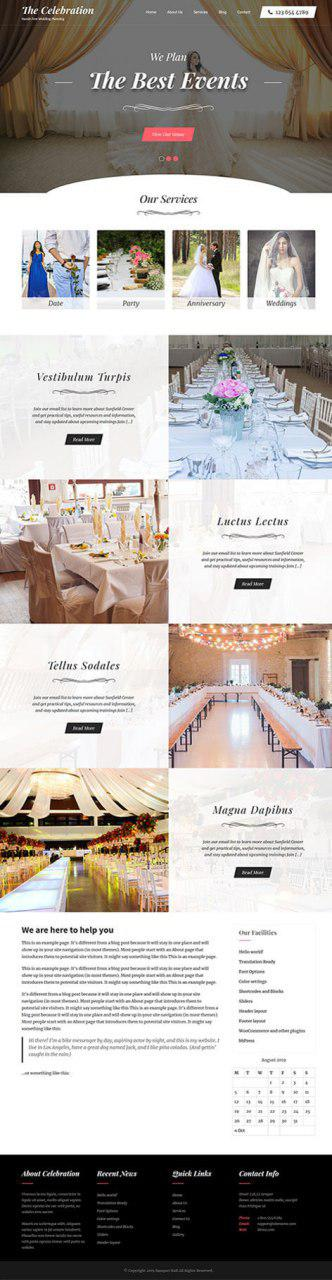 free celebration WordPress theme