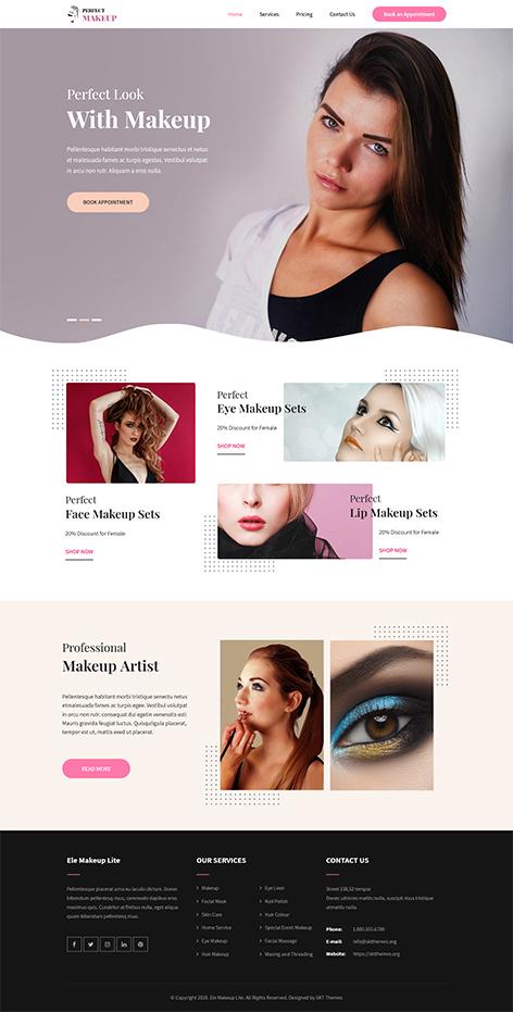 Free makeup artist WordPress theme