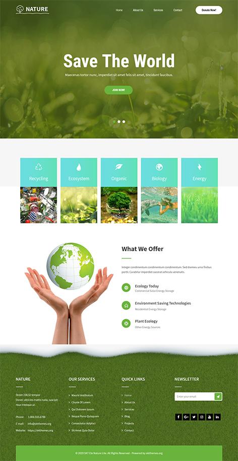Free Eco Nature WordPress Theme